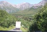 Kystriksveien_409_07082019 - Back on land following the caravan of cars along the Kystriksveien towards Jektvik