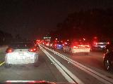 LA_Traffic_004_iPhone_08212021 - Facing lots of traffic on the freeways late on Saturday night after Dad picked us up from the airport