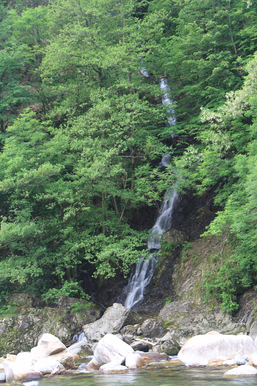 One of the small cascades by the church at L'Orrido di Sant'Anna
