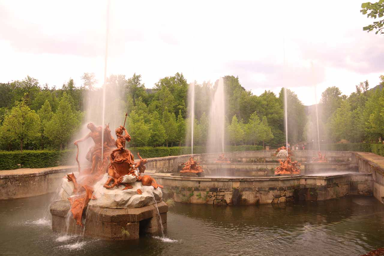 We showed up just in time to check out the fountains going off at La Granja