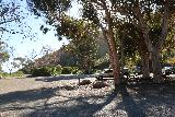 La_Jolla_Canyon_002_01192019 - The fairly empty parking lot for Pt Mugu State Park at the La Jolla Canyon Falls Trailhead