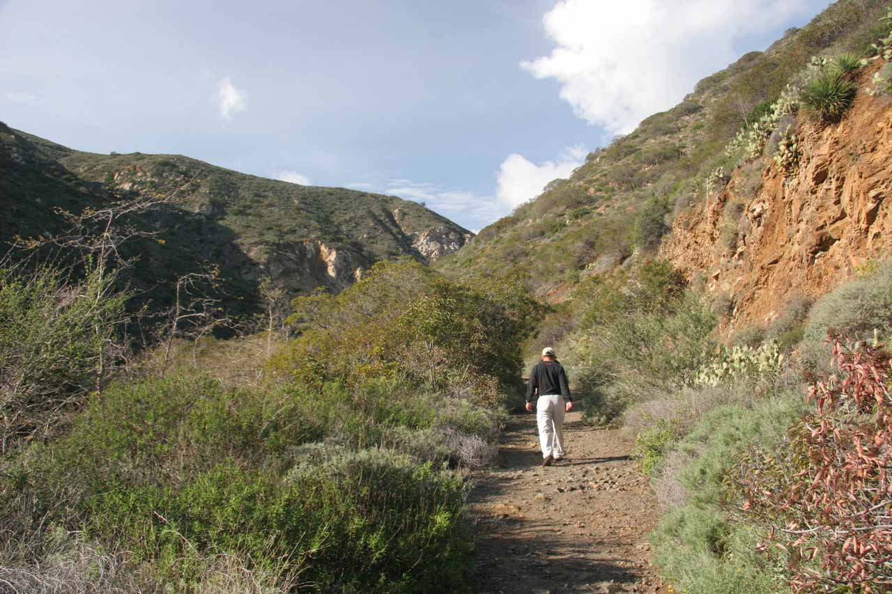 Hiking within La Jolla Canyon