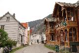 Laerdalsoyri_015_07222019 - The main drag through the historical part of Lærdal was interesting, and I wondered if staying here if we could have even walked to Stødnafossen. This photo was taken in our July 2019 visit.