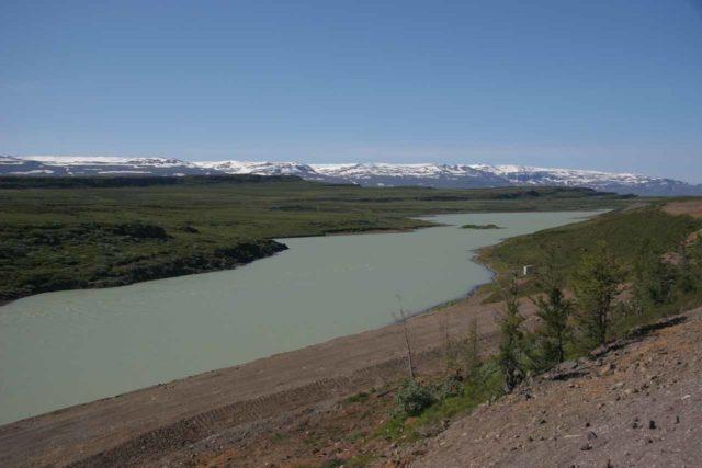 Lagarfoss_002_06302007 - Looking upstream from the Lagarfoss dam