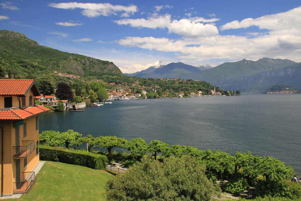 View of Lago di Como from our room at the Albergo Lenno