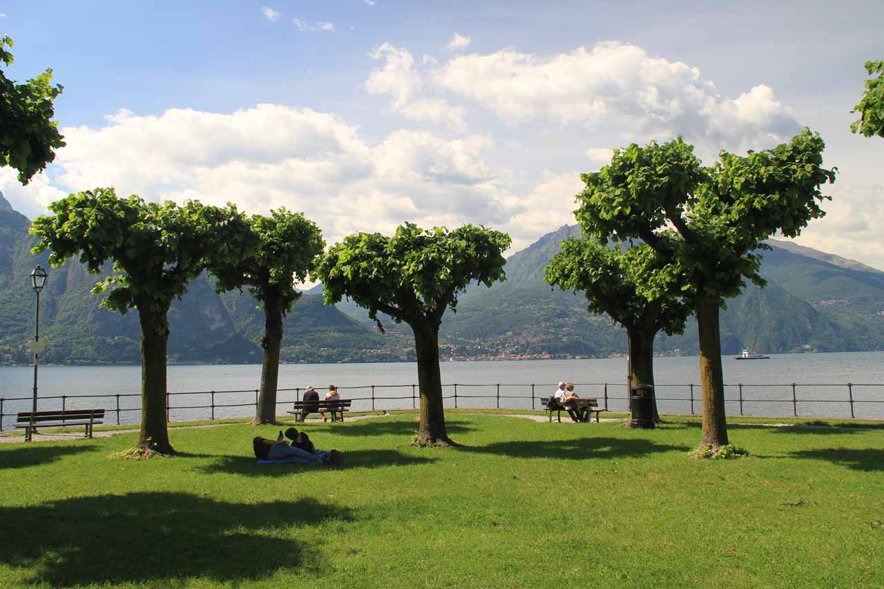 The laid back and picturesque park at La Punta of Bellagio