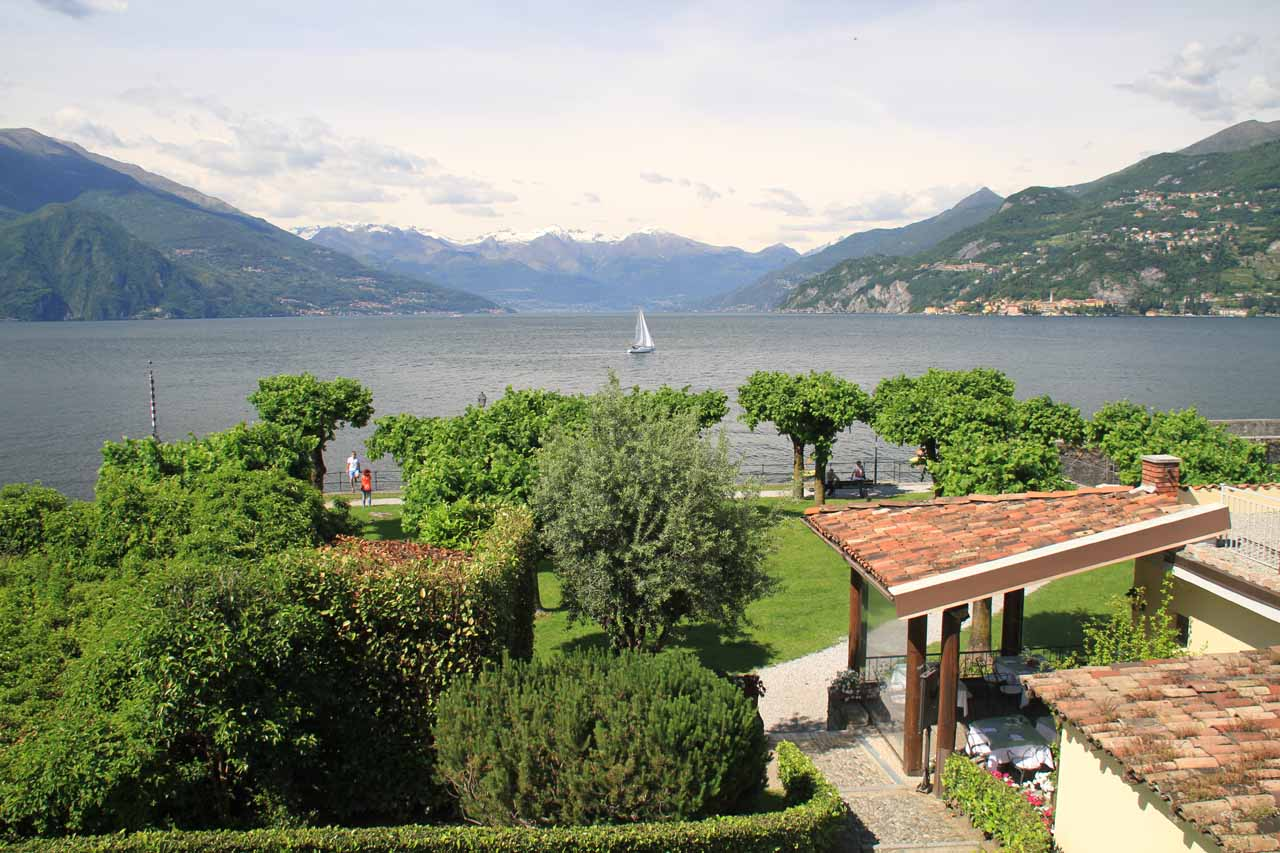 At La Punta, which was at the tip of the joint of the upside-down Y-shaped Lago di Como in Bellagio
