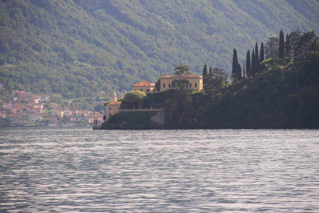 Closer look at Villa Balbianello as we were returning to Lenno
