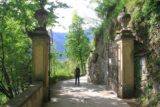 Lago_di_Como_261_20130603 - Julie going past another of the gates to Villa Balbianello