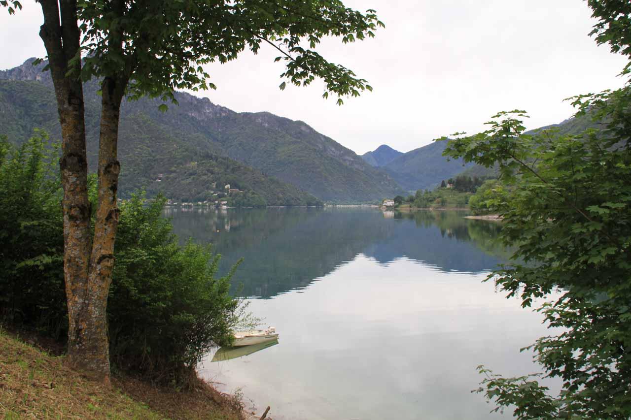 View of Lago di Ledro from Molina di Ledro