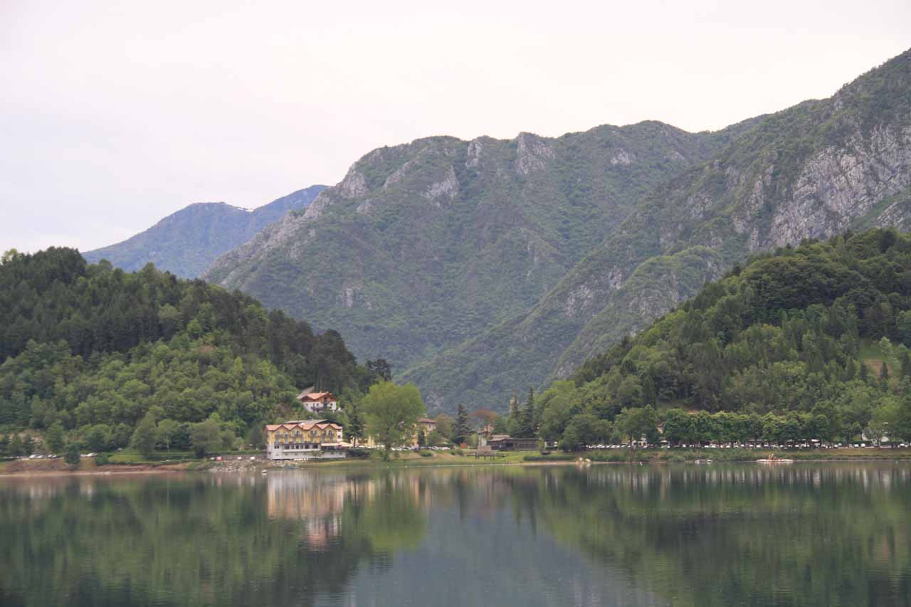 An unexpected surprise from visiting Cascata del Gorg d'Abiss was the gorgeous lakeside scenery at Lago di Ledro