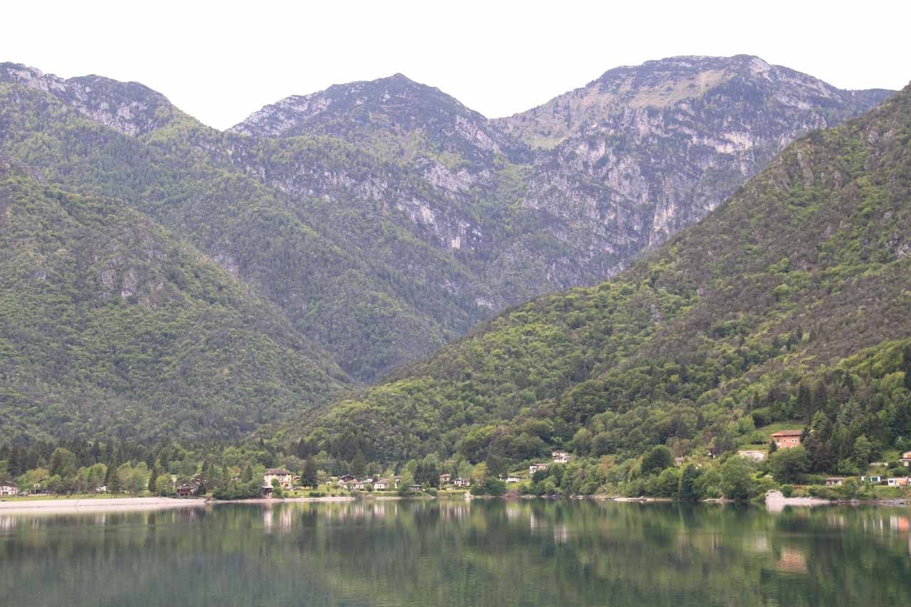 We passed by Lago di Ledro on the way back to Riva del Garda for more views of the attractive lake