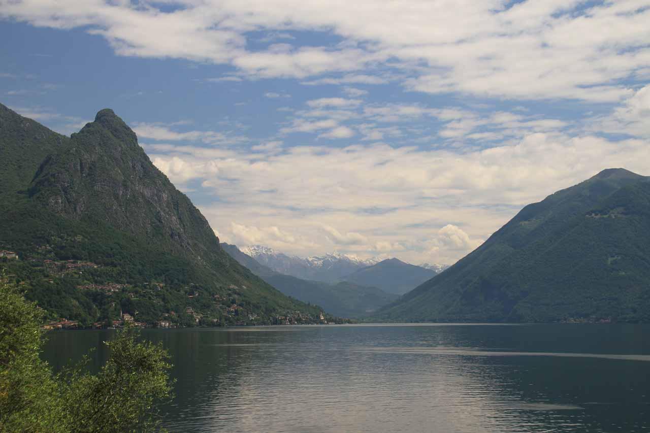 A short distance to the east of Locarno and Lago di Maggiore was Lugano and the attractive Lago di Lugano