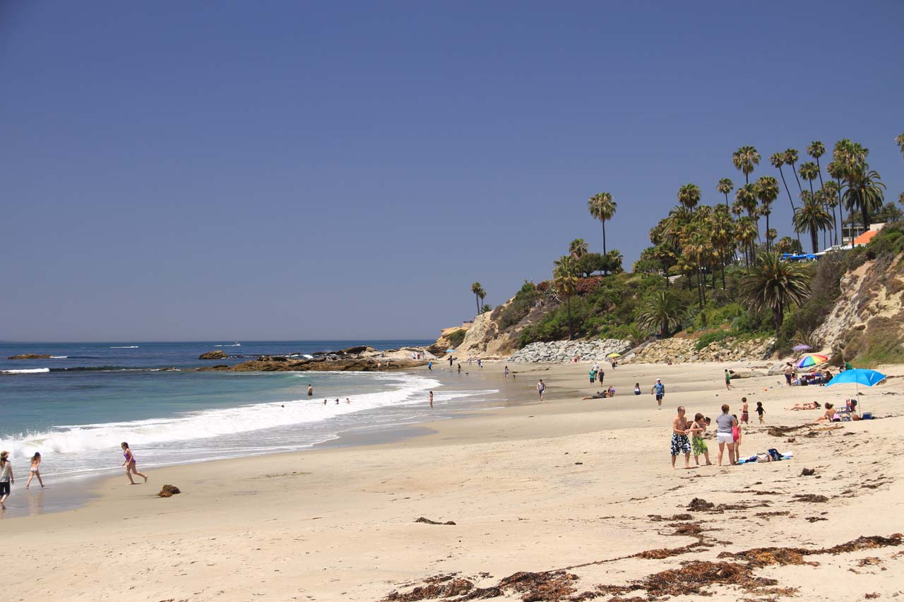 Further towards the ocean from Aliso Viejo was the picturesque Laguna Beach, which featured sandy beaches and rugged cliffs as well as an upscale community