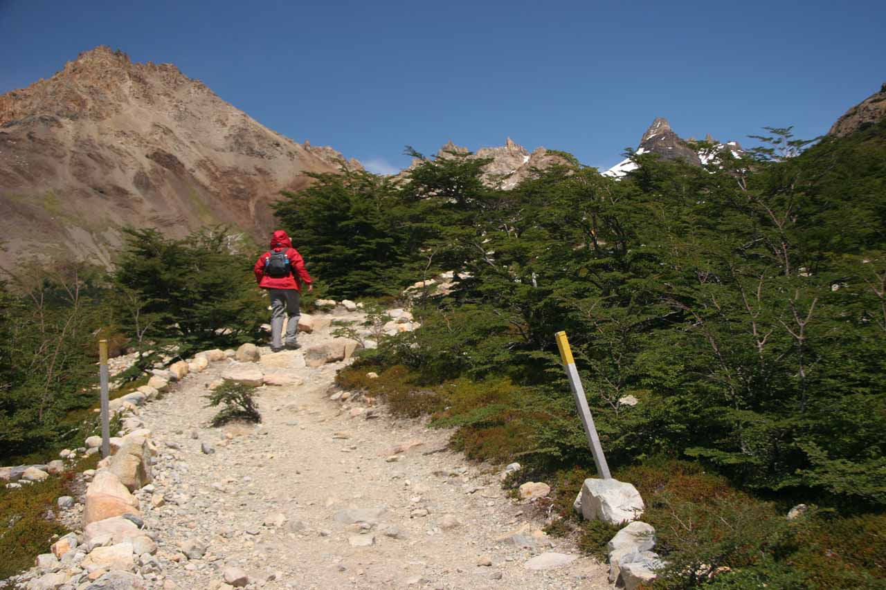 The start of the last section of the Laguna de Los Tres Trail