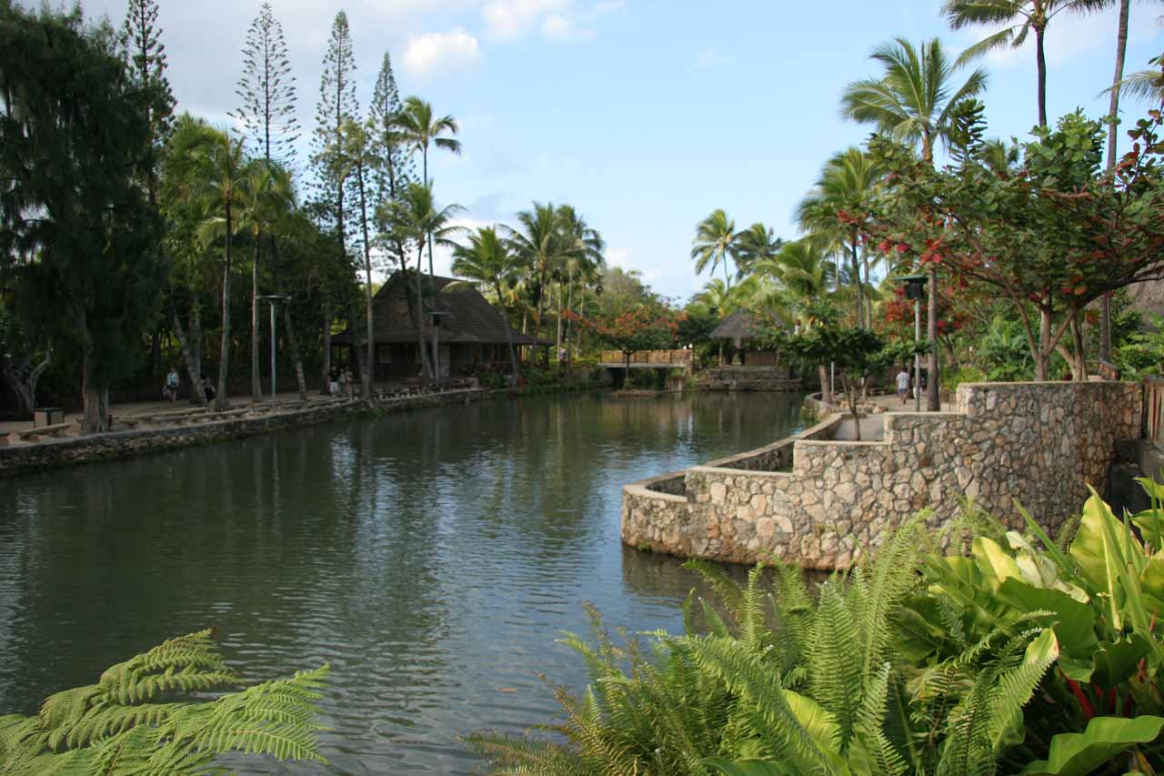 Meanwhile in the town of La'ie was the Polynesian Cultural Center where there were exhibits and luaus, and seemed to be a good place for families