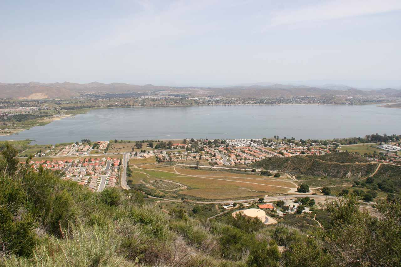 Looking down at Lake Elsinore from the Ortega Highway