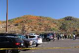 Lake_Elsinore_002_03172019 - Looking across the parking lot towards part of the superbloom with the end of the line in view