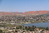 Lake_Elsinore_209_03172019 - More focused look over the northern end of Lake Elsinore with the superbloom juxtaposed with some snowy San Bernardino Mountains