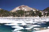 Lake_Helen_003_07122016 - Looking across a partially frozen Lake Helen backed by Lassen Peak
