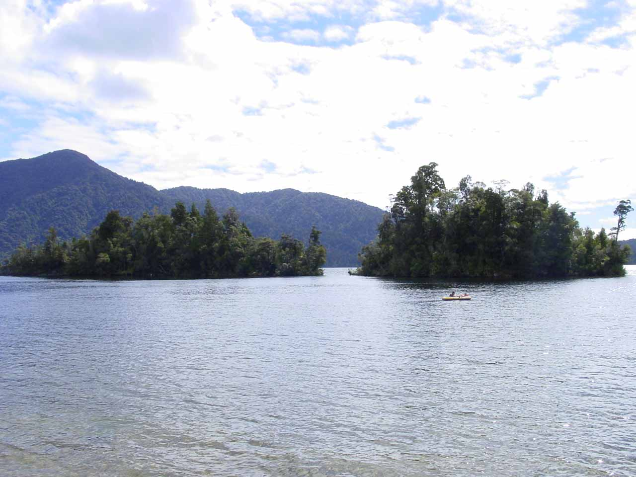 This was the view looking towards the attractive Lake Kaniere late on a partially sunny afternoon as we were making our way to Dorothy Falls