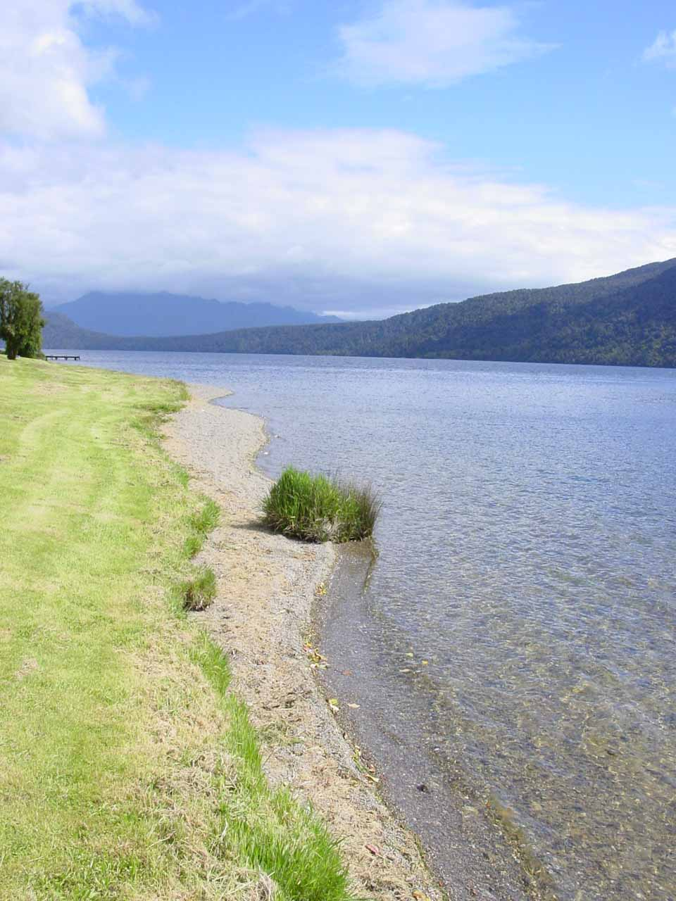 About 41km south of the Kumara Junction was the attractive and tranquil Lake Kaniere due southeast of Hokitika