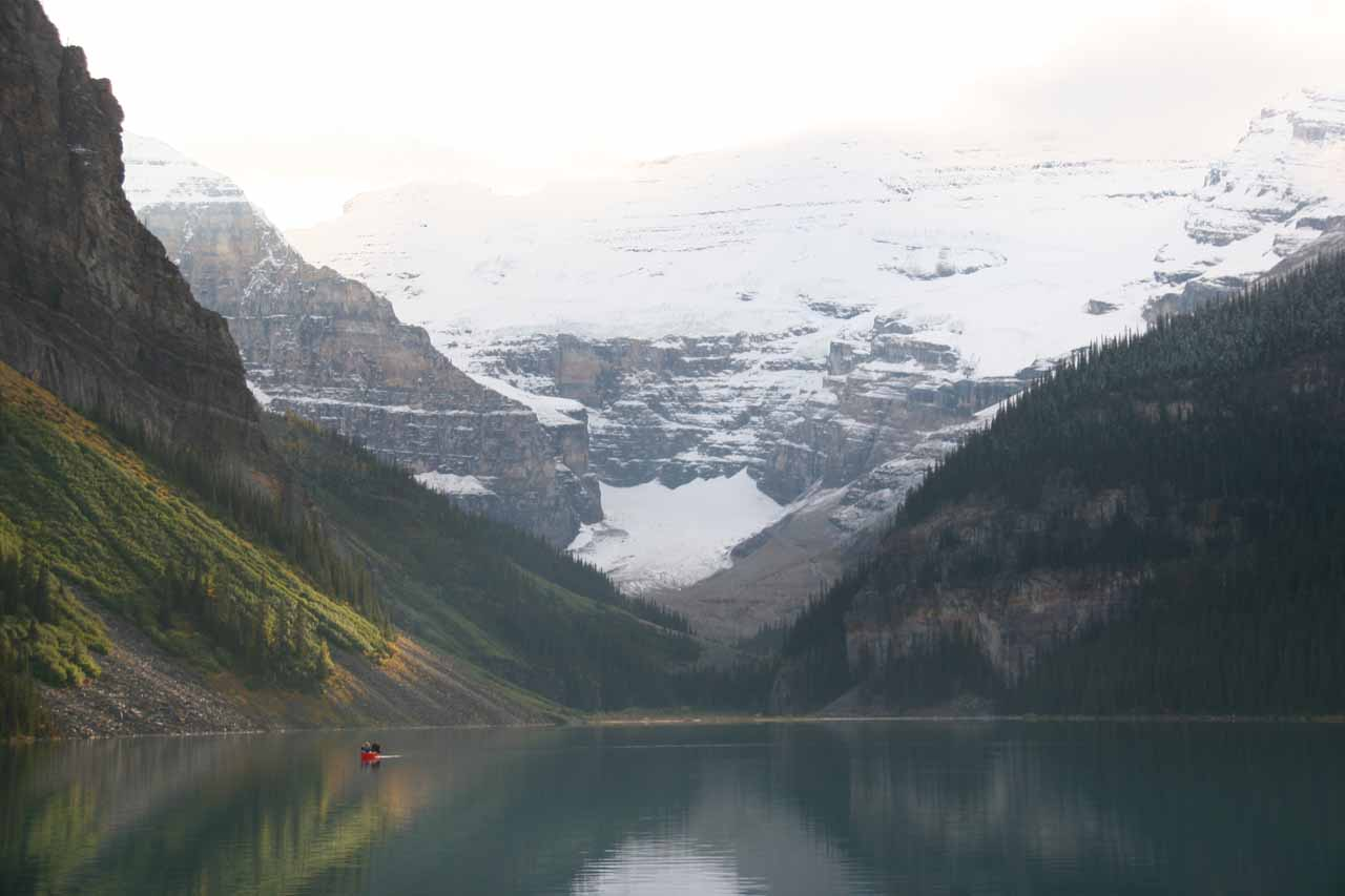 On the way to Takakkaw Falls (from Banff, where we were staying) is the beautiful and famous Lake Louise