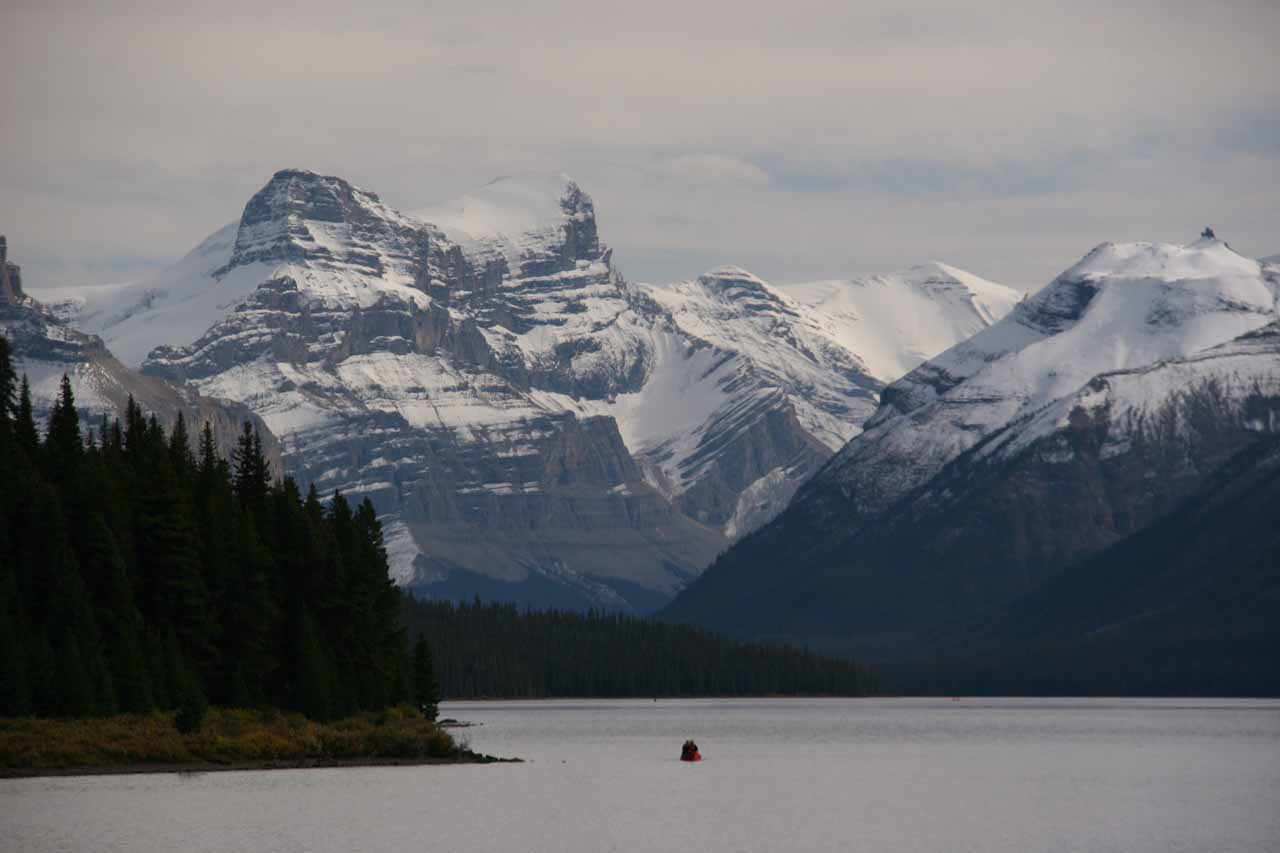 Perhaps Jasper National Park's most famous lake was Lake Maligne and its gorgeous glacier-scraped peaks surrounding its eerily calm waters