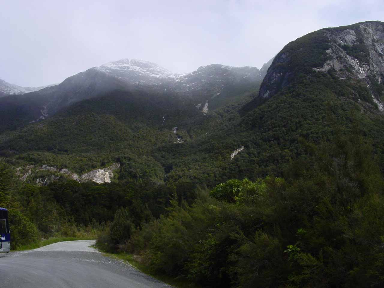 Looking back at Wilmot Pass Road just as we were about to take the boat ride back across Lake Manapouri to end our tour