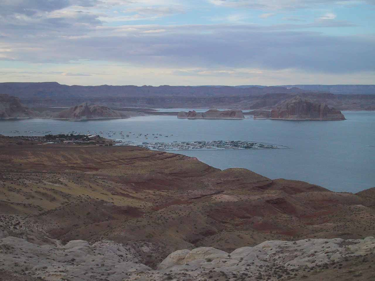 View of Lake Powell and the marina where we did our boat tour