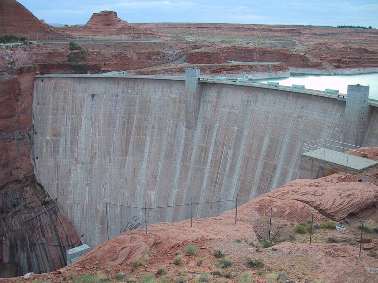 The dam responsible for Lake Powell