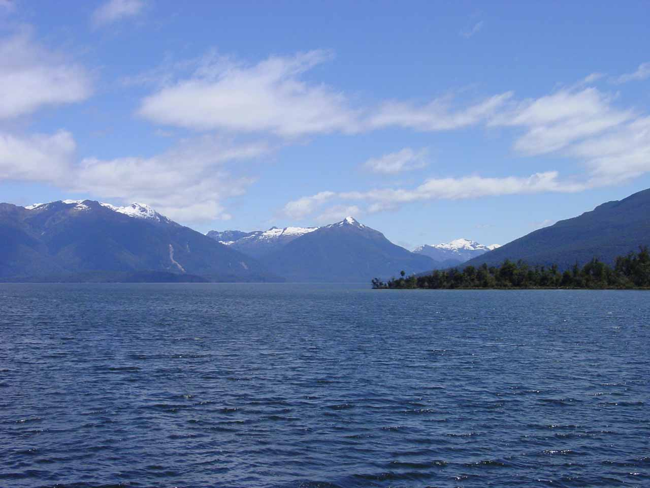 Looking across Lake Te Anau from Boat Harbour