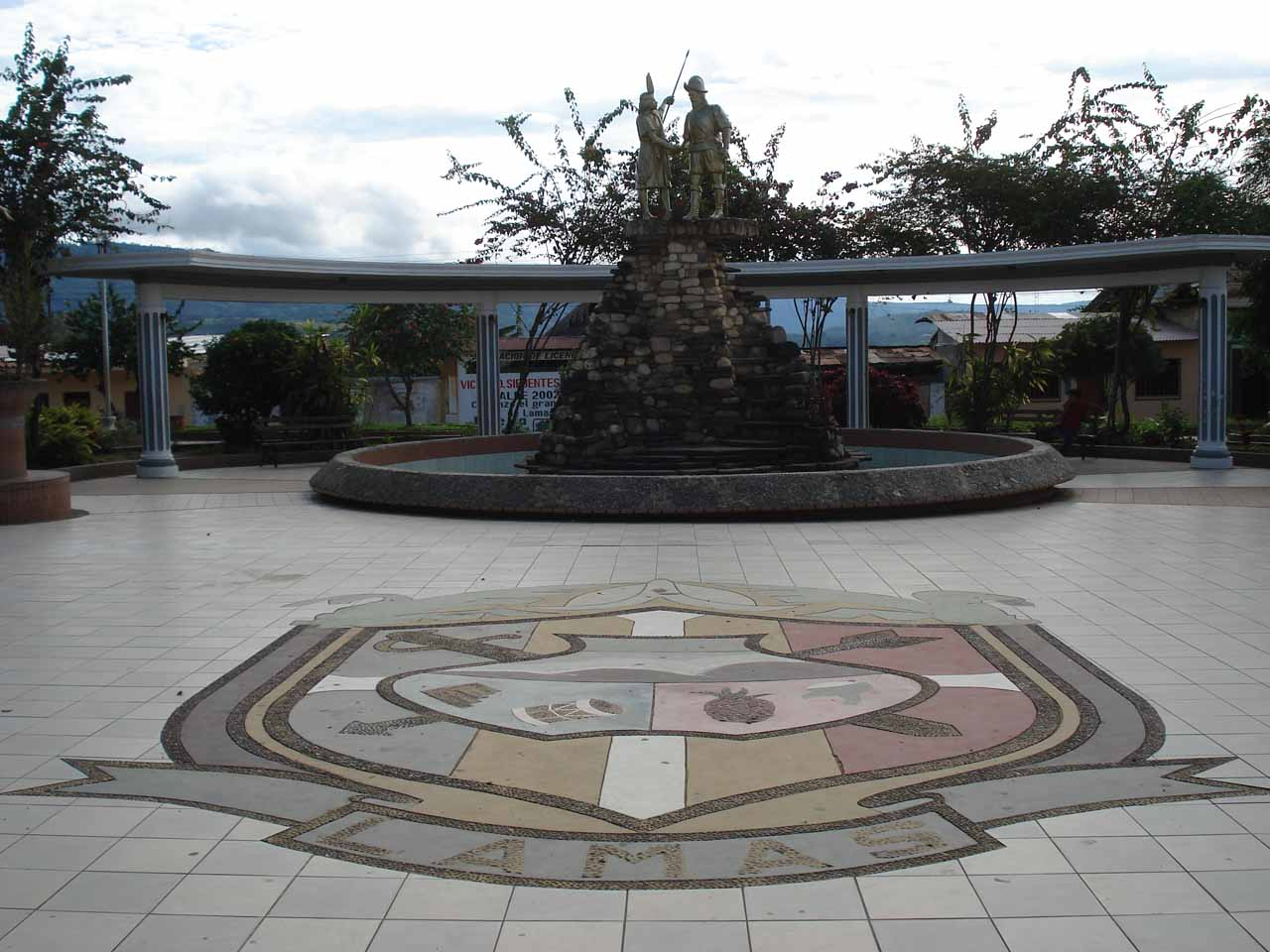 The town square of Lamas