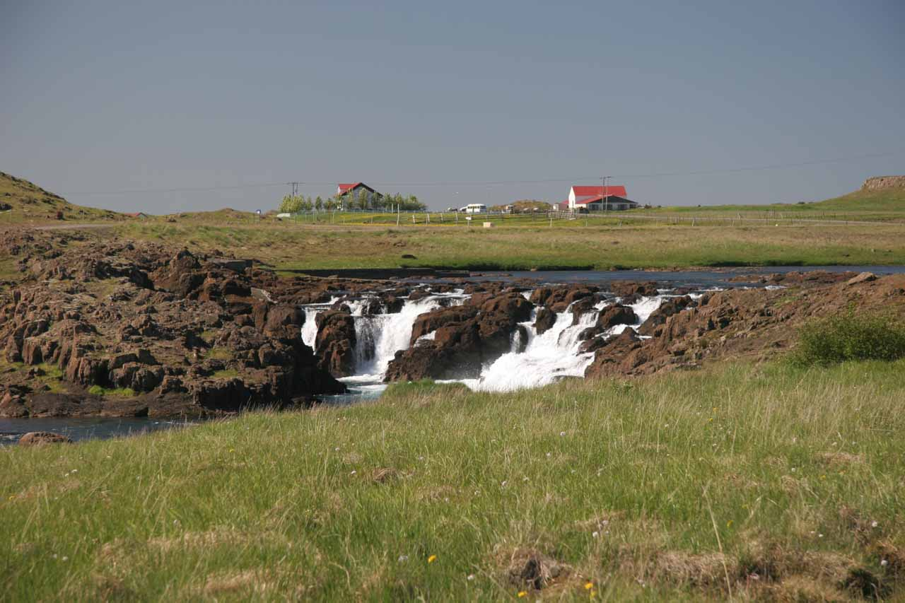 Some low waterfall we saw just as we started to get onto the Snæfellsnes Peninsula
