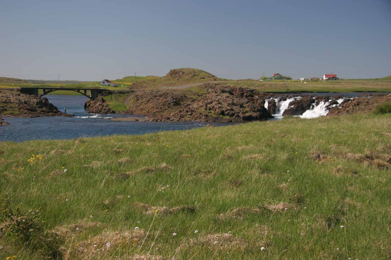 Here's a more contextual look at that low waterfall we saw just as we started to get onto the Snæfellsnes Peninsula
