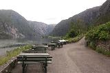 Langfossen_021_06232019 - Looking back at the picnic tables and some rock displays at Langfossen