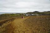 Langihryggur_006_08192021 - Looking back at the context of the second car park for the Fagradalsfjall Volcano at Geldingadalir