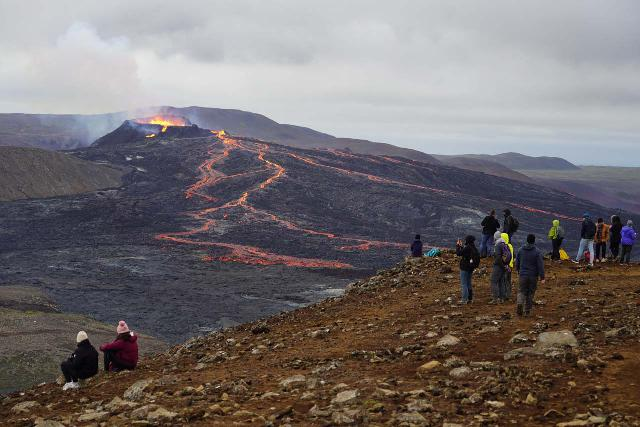 Langihryggur_138_08192021 - The volcanic legacy at Stöng further seemed relevant in light of the volcano eruption that we had witnessed at Fagradalsfjall on the Reykjanes Peninsula that we had seen just the night before in August 2021