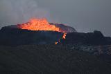 Langihryggur_telephoto_064_08192021 - Closeup through the telephoto lens of the Fagradalsfjall Volcano erupting
