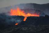 Langihryggur_telephoto_124_08192021 - All zoomed in on the crater of the Fagradalsfjall Volcano erupting with splattering lava