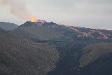 Langihryggur_telephoto_203_08192021 - Last look back at the increasingly active Fagradalsfjall Volcano erupting as seen as we were descending the steep trail