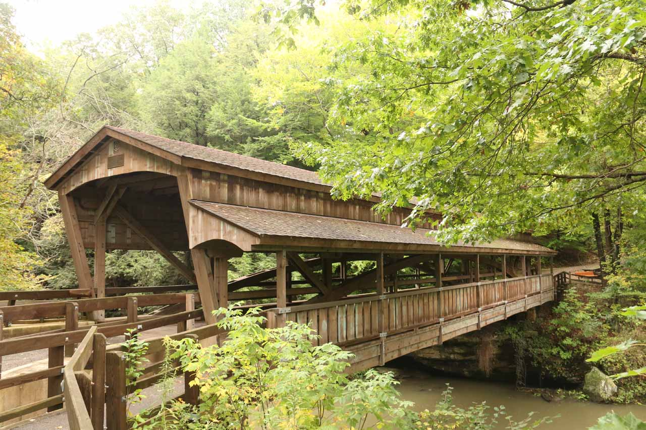 The covered bridge upstream from Lanternman's Mill