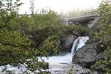 Lappland_025_07072019 - Looking upstream towards a small vertical drop beneath the road bridge