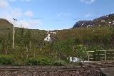 Lappland_201_07072019 - Looking up at Lohktajohka from the railroad tracks in Swedish Lappland