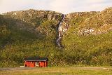 Lappland_225_07072019 - Looking towards the waterfall at Skogvann on the E10 as I was nearing Narvik