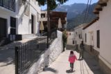 Las_Alpujarras_078_05272015 - Julie and Tahia meandering towards the far end of town but already looked forward to leaving town