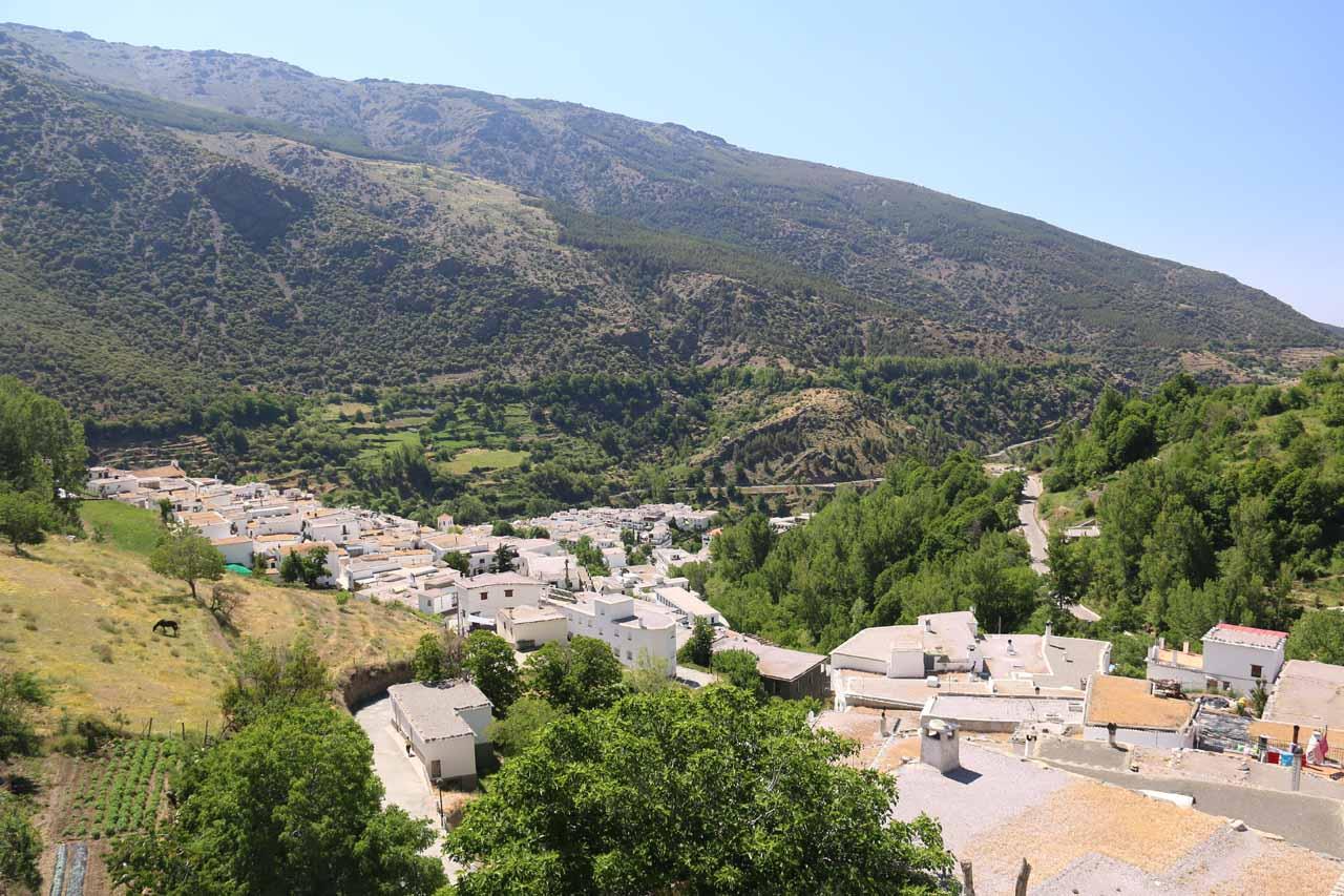 Looking down at Travelez from the Mirador Era de la Fuente