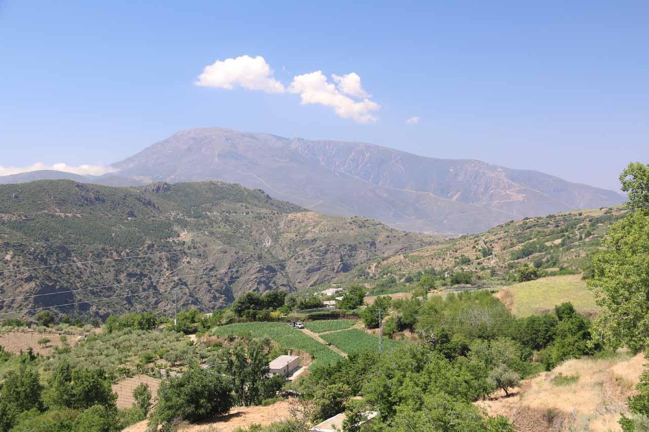 Looking out from the Mirador de Portugos