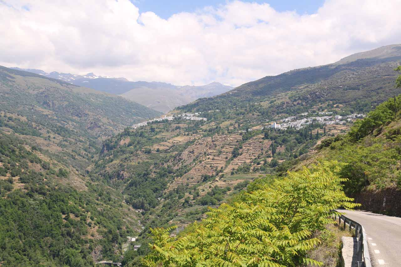 Looking ahead at a pair of towns that I believe to be Rubion and Capileira