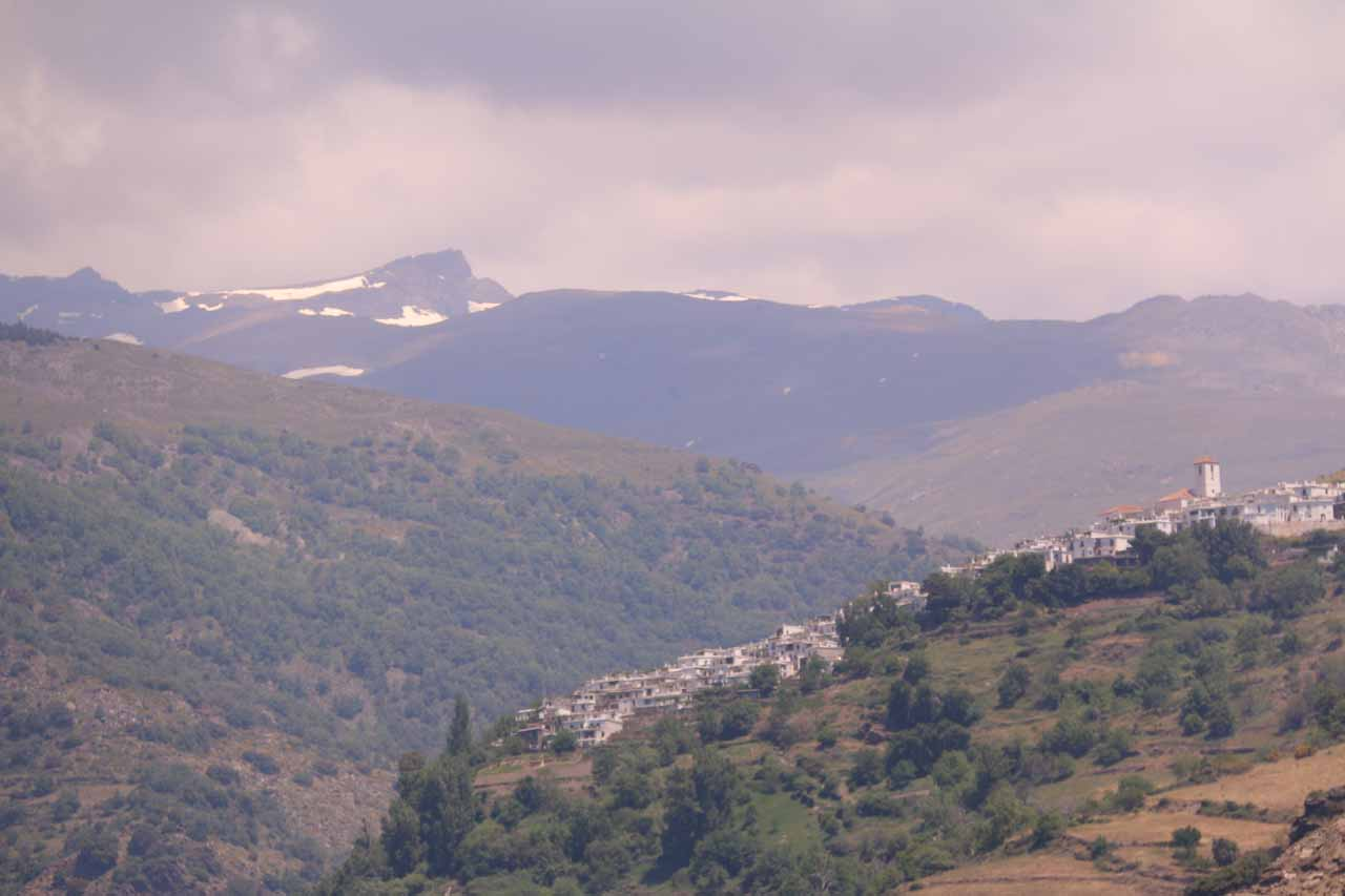 Looking towards Capileira (I think) and vestiges of snow at the highest elevations of the Sierra Nevada